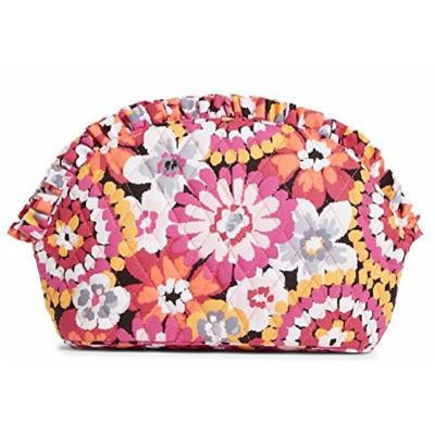 Gorgeous Vera Bradley Large Ruffle Cosmetic Case in Pixie Blooms