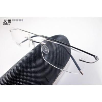 Eyewear army KE Grey 8 Colors Titanium Rimless Flexible Hinged Eyeglass Frame Eyewear Spectacles RX