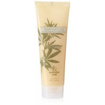 New Sunshine Australian Gold Hemp Natural Vanilla Pineapple Body Wash, 8 Ounce