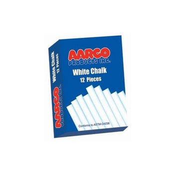 AARCO White Chalk - Box of 12 Pieces
