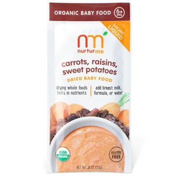 NurturMe Blends-Carrot Raisins Sweet Potatoes Dried Organic Foods - .81 Ounce