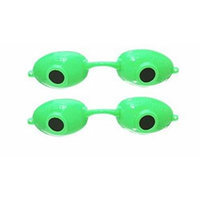 2 pack Super Sunnies UV Eye Protection Tanning Goggles Eyeshields (Neon Green)