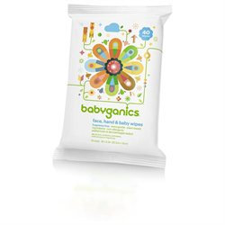BabyGanics Thick n Kleen Unscented Baby Wipes Pack - 40ct