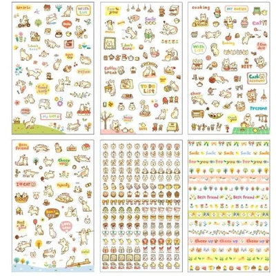 Krystie-kitty Selections SUPER CUTE! Semi-Translucent Kitty Stickers-6 SHEETS!