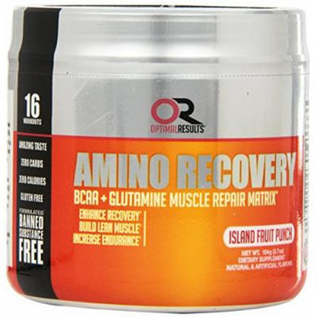 Optimal Results Amino Recovery Diet Supplement, Tropical Fruit Punch, 3.7 Ounce