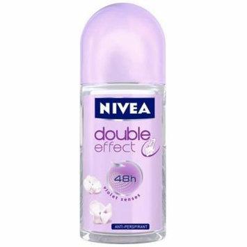 Nivea Deodorant Roll-on, 1.7 Fluid Ounce (W DOUBLE EFFECT, PACK OF 6)
