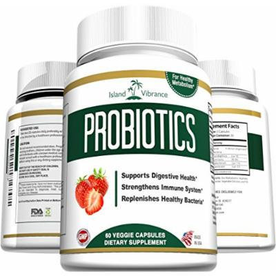 Probiotics Supplement for Digestive Health 40 Billion CFU - Promotes Weight Loss, Increased Energy, Bowel Regularity and Deep Immune System Support - Shelf Stable - For Women and Men - 60 Veggie Capsules - Made in USA