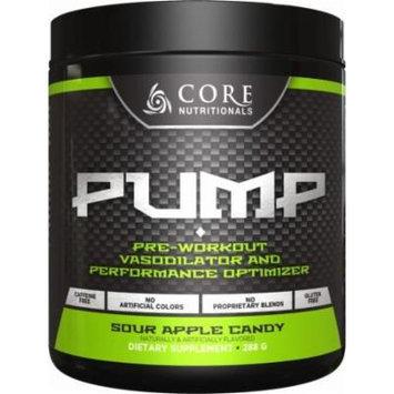 Core Nutritionals Pump Pre-Workout Vasodilator Powder - Sour Apple Candy 282g