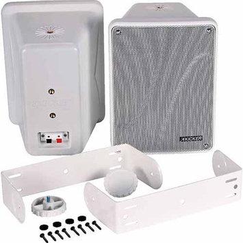 Kicker Full-Range Indoor/Outdoor Speakers, White