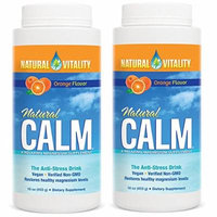 Natural Vitality Natural Magnesium Calm, Orange (2 Bottles of 16 Ounce)