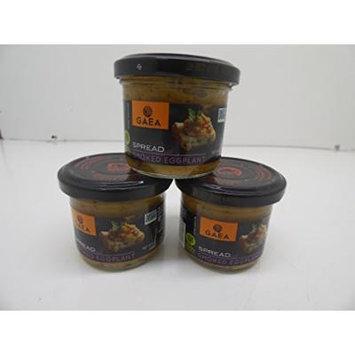 GAEA Spread Smoked Eggplant 3.5 OZ X 3 (Pack of 3)