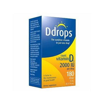 Ddrops Vitamin D3 2000IU 0.17 fl oz (5 mL)
