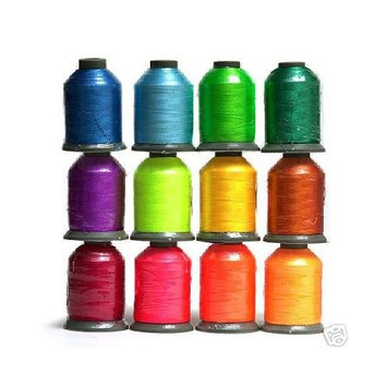 Embroidex 12 Spools BRIGHT Embroidery Machine Thread