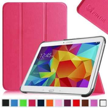 Fintie Smart Shell Case Ultra Slim Lightweight Stand Cover for Samsung Galaxy Tab 4 10.1 Tablet, Magenta