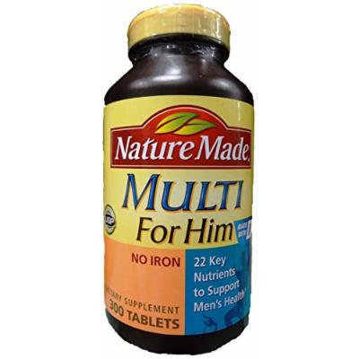 Nature Made Multi for Him 300 CT Multivitamin Dietary Supplement