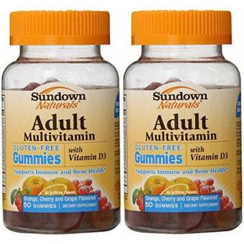 Sundown Naturals Adult Multivitamin Gummies, 50 Count (Pack of 2)