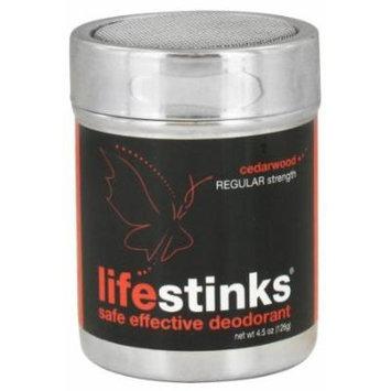 Duggan Sisters - LifeStinks Deodorant Powder Regular Strength Cedarwood