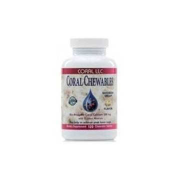 Coral LLC Coral Chewables Calcium 500 mg- 120 chewable tablets