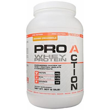 Reaction Nutrition Recor Pro Action Whey Protein, Orange Creamsicle, 2 Pound