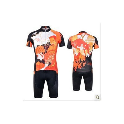 MONTON 2012 cycling jersey Set short-sleeved jersey tenacious life/Perspiration breathable men's cycling jerseys jersey suit (XXL)
