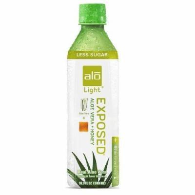 ALO - Original Aloe Drink Exposed Light Aloe Vera + Honey - 16.9 oz. (Pack of 3)