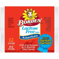 Placeholder Borden Lactose Free Singles American Cheese Slices, 0.66 oz, 12 count