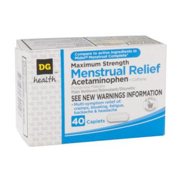 DG Health Menstrual Pain Relief - Caplets, 40 ct