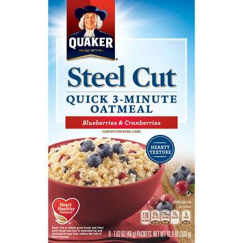 Quaker® Steel Cut Quick 3-minute Oatmeal Blueberries & Cranberries