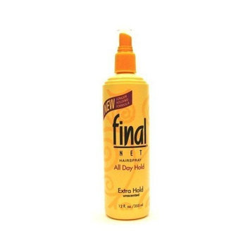 Final Net Pump Hairspray 12 oz. Extra Hold Unscented (3-Pack) with Free Nail File