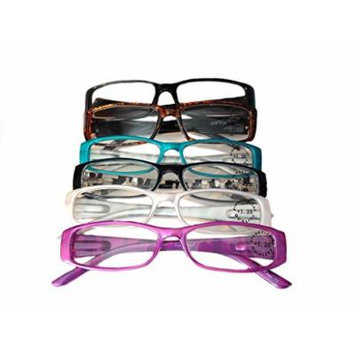 Designer Women's Plastic Reading Glasses Pack of 6 Bombshell 1.5