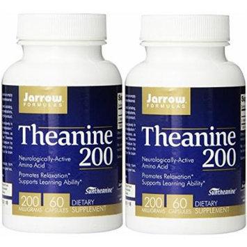 Jarrow Formulas Theanine 200, 200mg, 60 Capsules (2 Pack)