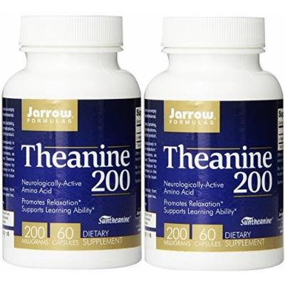 Jarrow Formulas Theanine 200, 200mg, 60 Capsules (2 Pack)