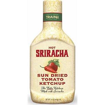 Traina Hot Sriracha Sun Dried Tomato Ketchup 16 oz.