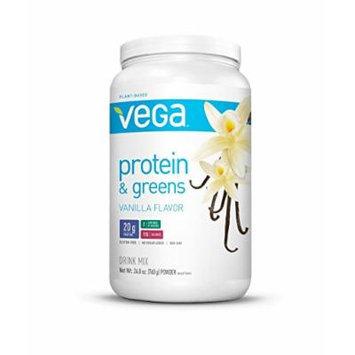 Vega Protein & Greens, Vanilla, Tub, 26.8 oz (Pack of 2)