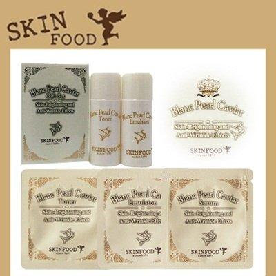 [SKIN FOOD] SKINFOOD Blanc Pearl Caviar Sample / Toner / Emulsion / Serum / Cream/10pcs/2 Set/+SAMPLE2EA/Korea Cosmetics (01. Blanc Pearl Caviar Toner 10pcs)