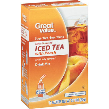 Great Value : Decaffeinated Iced Tea With Peach Drink Mix