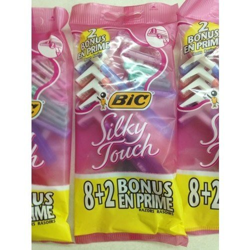 Bic Silky Touch Disposable Razors 8 + 2 Bonus Pack