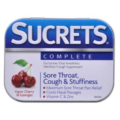 Sucrets Lozenges Complete - Cherry, 18 ct