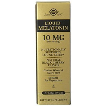 Solgar Liquid Melatonin Supplement, Natural Black Cherry, 4 Ounce