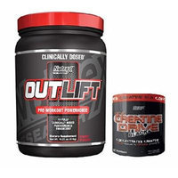 Nutrex Research Outlift Pre-Workout Supplement, Fruit Punch, 18.27 oz With Creatine Drive Black 150g