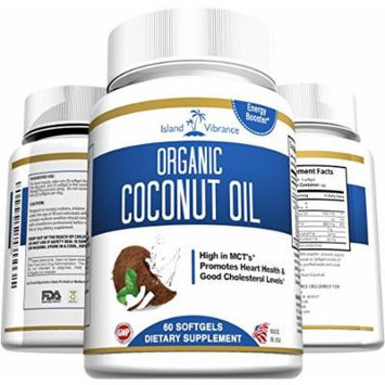 Organic Coconut Oil Capsules - 1000mg Extra Virgin Softgels - Great for Hair Growth and Moisturizes Skin - Promotes Healthy Metabolic Energy and Natural Weight Loss - Premium Grade Dietary Supplement - Proudly Made in USA and 3rd Party Lab Certified