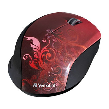 Verbatim Wireless Notebook Optical Mouse, Design Series - Red