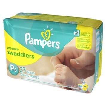 Pampers Swaddlers Diapers Jumbo Pack Size Preemie (27 Count)