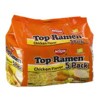 Nissin Top Ramen Chicken Flavor - 5 CT