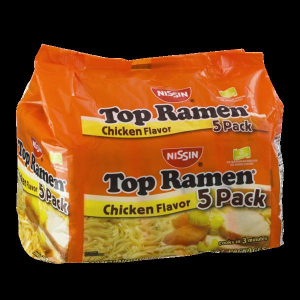 Nissin Top Ramen Chicken Flavor - 5 CT