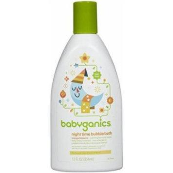 BabyGanics Tub Time Night Time Bubble Bath - Natural Orange Blossom -12oz