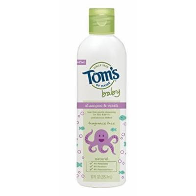 Tom's of Maine Baby Shampoo and Wash, Fragrance-Free, 2 Count