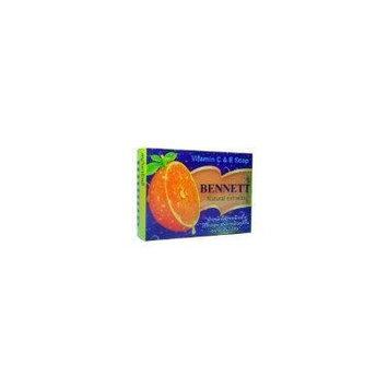 Bennett Vitamin C & E Bar Soap, Natural Extract, 4.59-Ounce Bars, 2-Count
