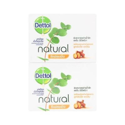 Dettol : Natural Refreshing Soap 2.47 Oz. (Pack of 4) Product of Thailand