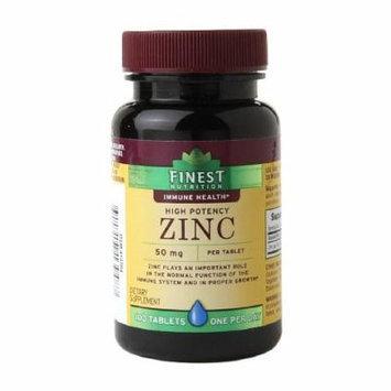 Finest Nutrition Zinc 50mg, Caplets 100 ea